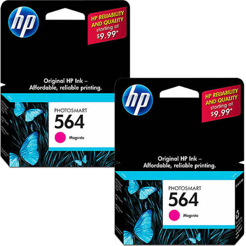 HP 564 Magenta Original Ink Cartridge with Extra Magenta Ink