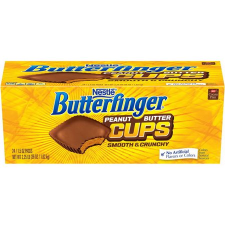 (Price/Case)Nestle 00028000497729 Butterfinger Peanut Butter Cup Singles 12-24-1.5 Ounce](Peanut Butter Fingers Halloween)