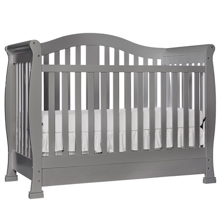 Dream On Me Addison 5-in-1 Convertible Crib With Drawer Storm Gray