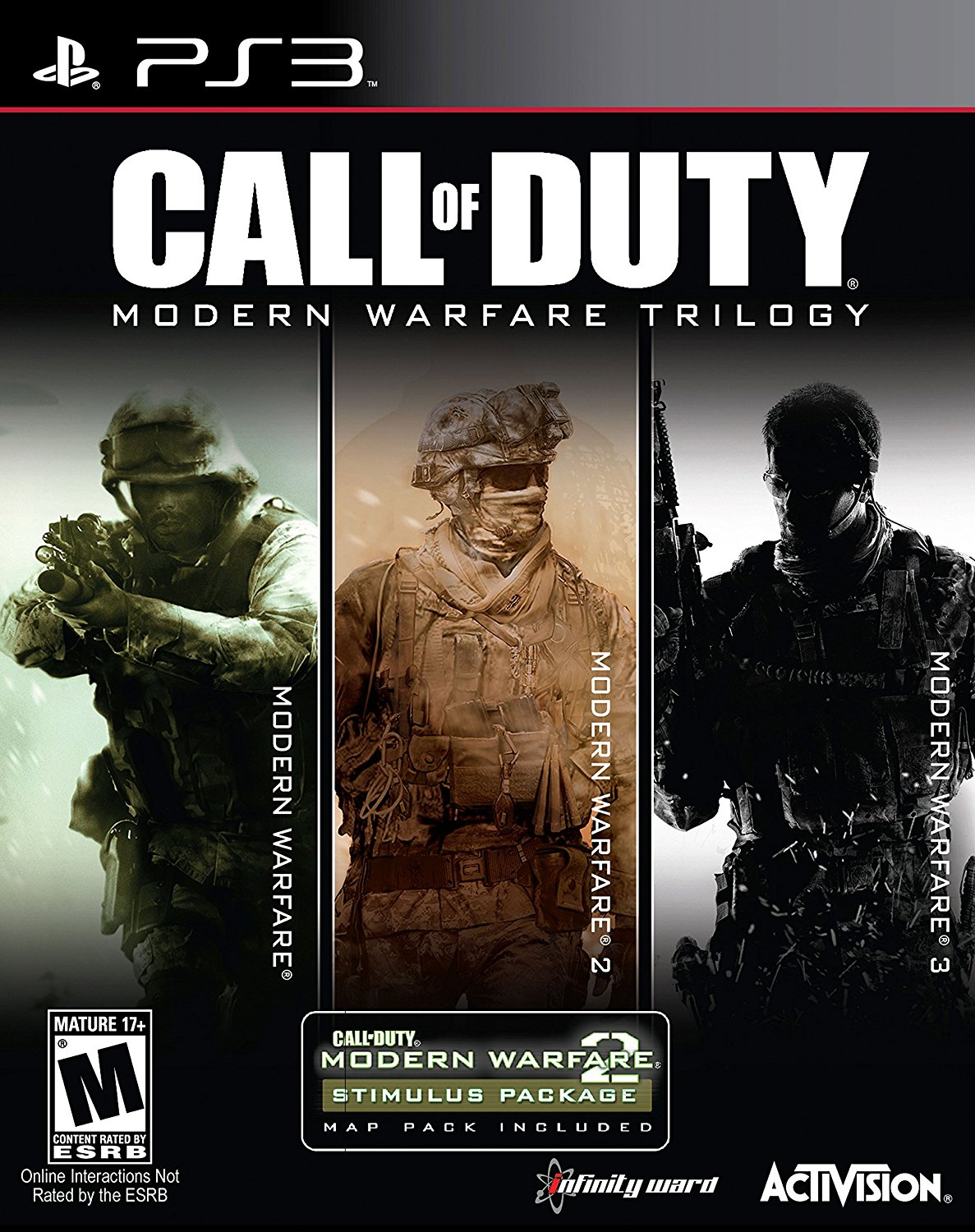 Call Of Duty Modern Warfare Trilogy 3 Discs Activision Xbox 360 Game Ps4 Infinite 047875878068