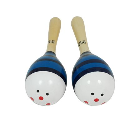 Dluca Kids 7 5 Inches Blue Hummingbird Wood Maracas