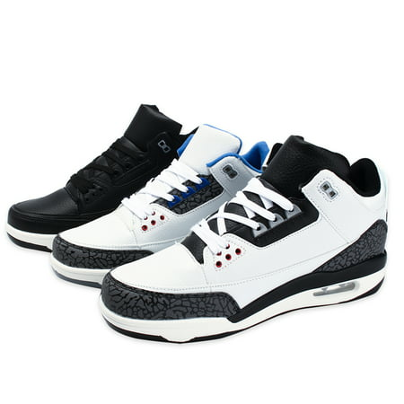 Meigar Men's High Top Basketball Shoes Breathable Shockproof Training Sneakers Air Cushion