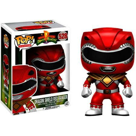Power Rangers Funko Pop Tv Dragon Shield Red Ranger Vinyl
