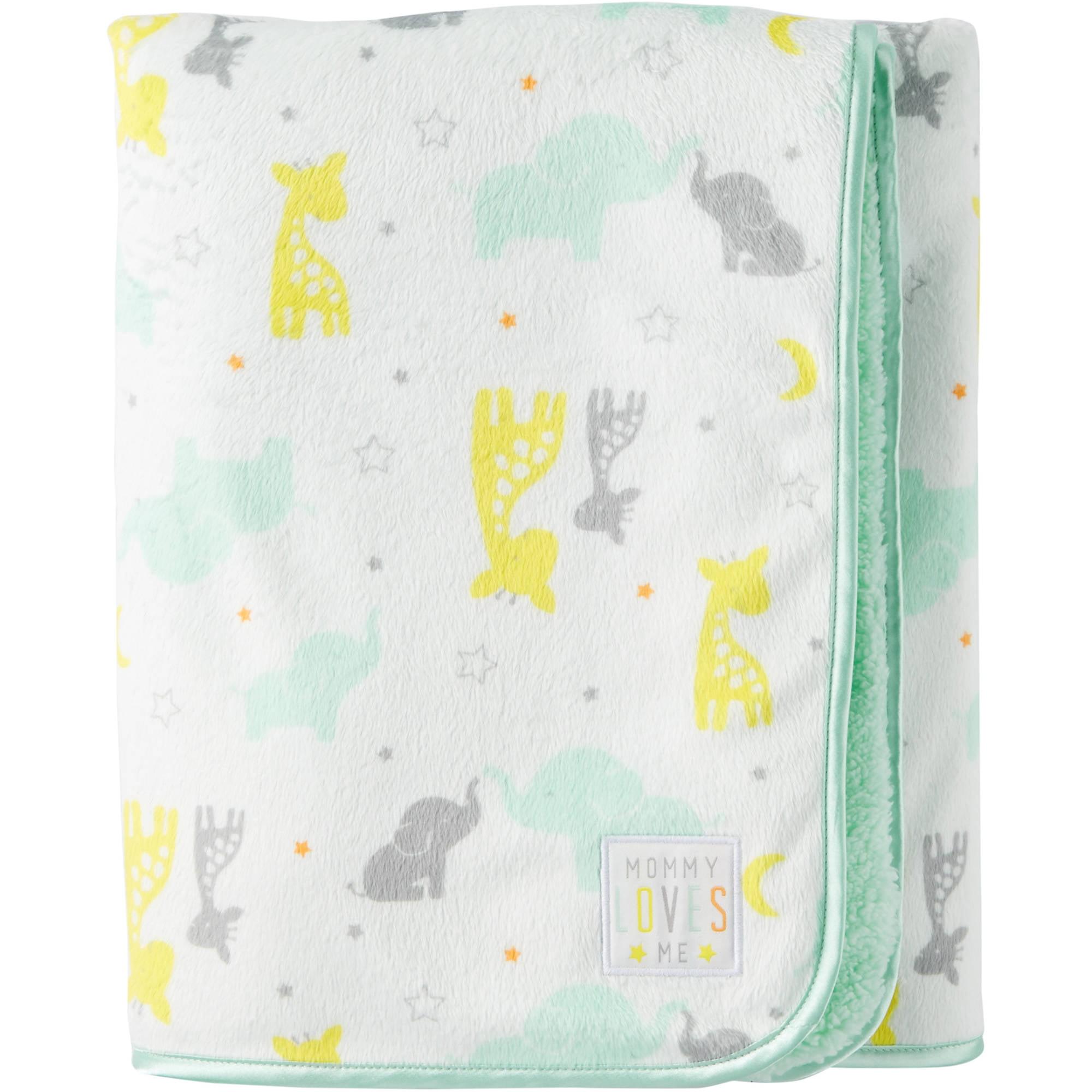 Child Of Mine by Carter's Newborn Baby Boy or Girl Velboa Blanket by Child of Mine by Carter%27s