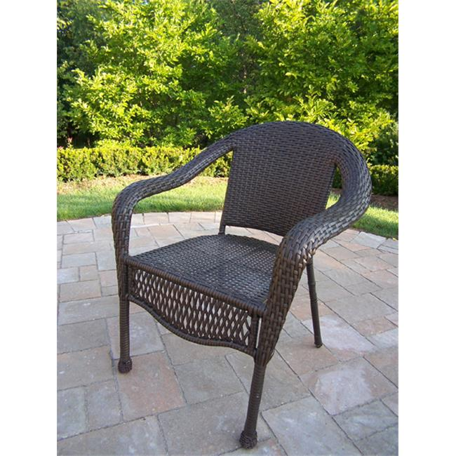 Oakland Living Corporation 90049-C-CF Resin Wicker Chair