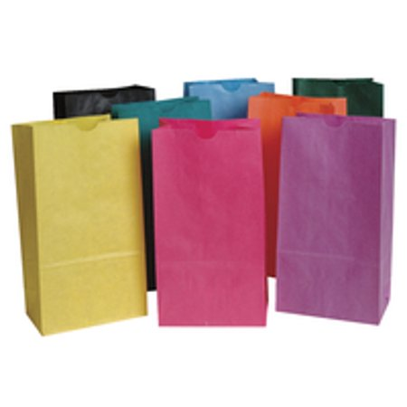 School Smart Paper Gift Bags, 6 x 11 Inches, Assorted Colors, Pack of 28