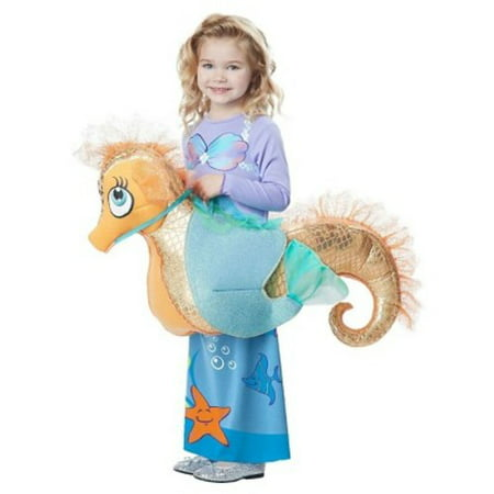 Mermaid Riding a Seahorse Rider Child Halloween Costume, 1 Size (Sea Horse Costumes)