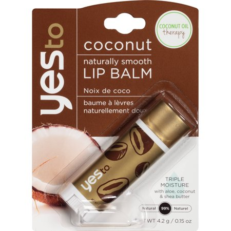 Yes To Coconut Naturally Smooth Lip Balm Triple Moisture 0.15