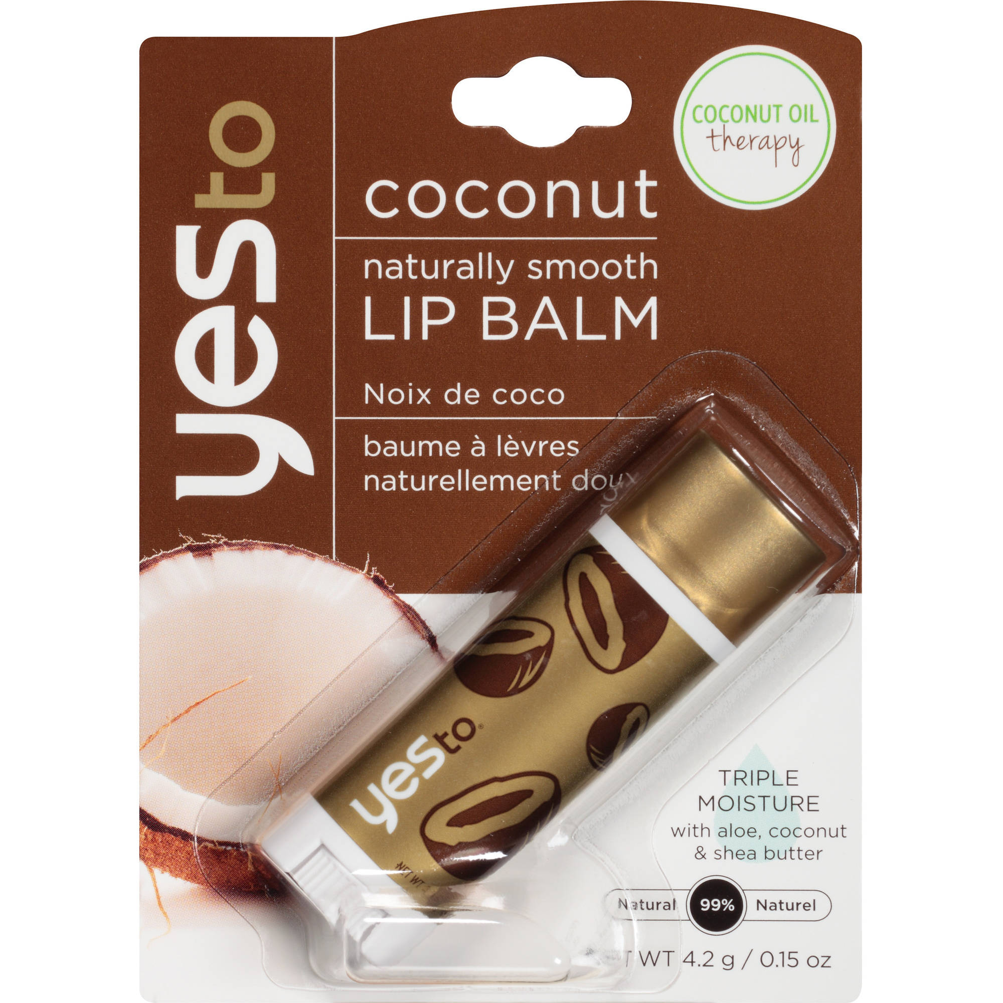 Yes To Lip Balm, Coconut, .15 oz