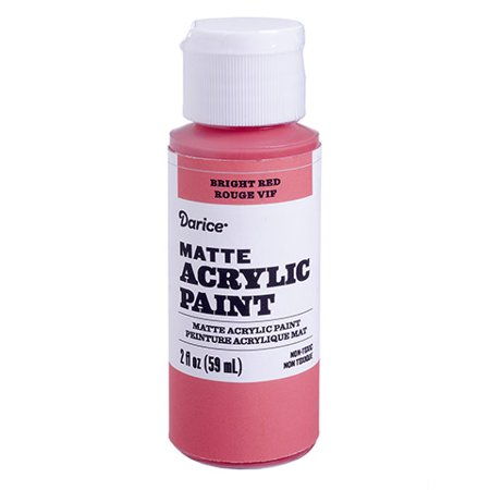 Revamp old wood chairs by painting them with this bright red matte acrylic paint. The 2-ounce bottle dispenses easily for mess-free