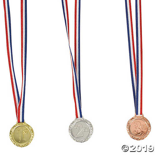 1st, 2nd & 3rd Place Award Medals