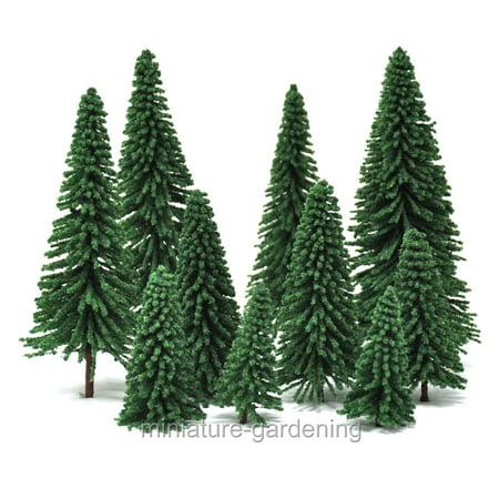 - Miniature Pine Trees, 10 Piece Set, 2.5 to 6 inches tall for Miniature Garden, Fairy Garden