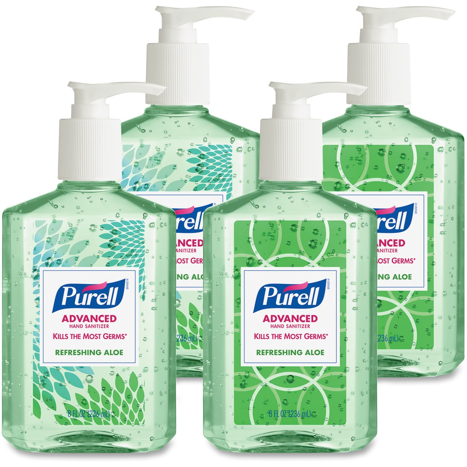 (Pack of 4) PURELL Refreshing Aloe Hand Sanitizer, 8 Oz by PURELL