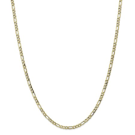 10k Yellow Gold 3.5mm Link Figaro Necklace Chain Pendant Charm