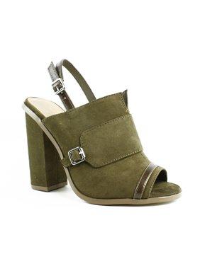 0017bab2eccb Product Image Callisto Womens KhakiSuede Ankle Strap Sandals Size 5 New