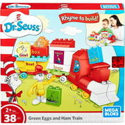 Mega Bloks Dr. Seuss Green Eggs and Ham Train, 38-Pieces