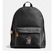 coach charles backpack in glove calf leather with mickey f59018, black by