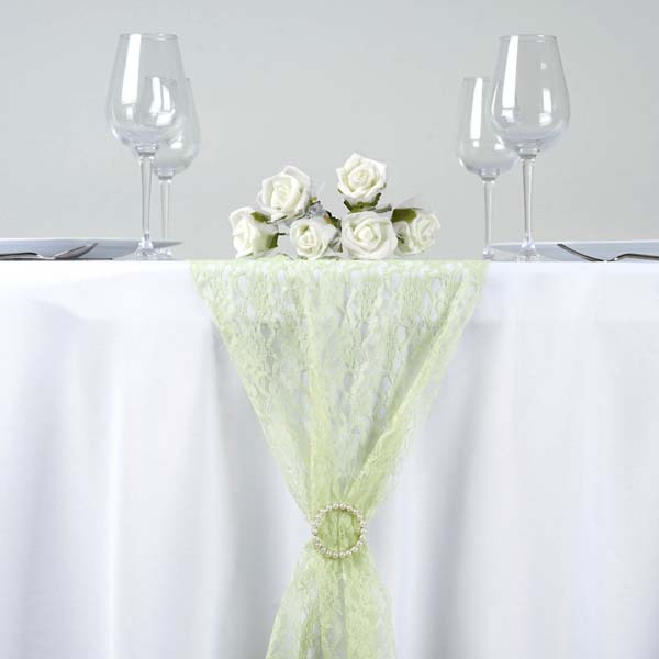Efavormart Floral Lace Premium Table Top Runner For Weddings Birthday Party Banquets Decor Fit Rectangle and Round Table