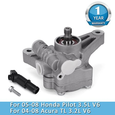Power Steering Pump Fits 2004-2008 Acura 3.2L TL 05-08 Honda Pilot 3.5L V6 (Acura Tl Power Steering Pump Replacement Cost)