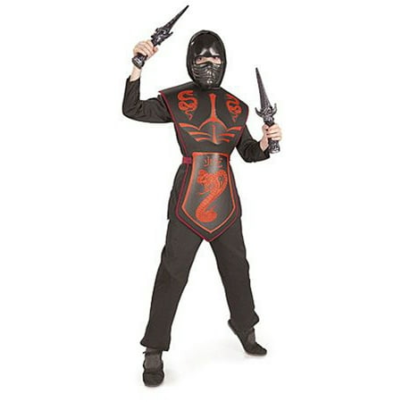 Red Cobra Snake Ninja Warrior Assassin Boys Halloween Costume](Snake Costume)