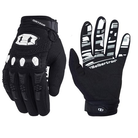 Seibertron Dirtpaw Unisex BMX MX ATV MTB Racing Mountain Bike Bicycle Cycling Off-Road/Dirt Bike Gloves Road Racing Motorcycle Motocross Sports Gloves Touch Recognition Full Finger Glove Adult Size-Bl