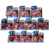 Star Wars Hot Wheels Navigator Starship Die-Cast Toy Vehicle [ Destroyer-Republic Gunship-Tantive IV-Vader X1-Rebels Phantom-Millennium Falcon-Kylo Shuttle-Tie Fighter-Imperial-X-Wing ] (Set of 10)