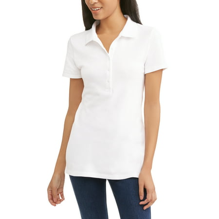 Womens Essential Short Sleeve Polo T-Shirt