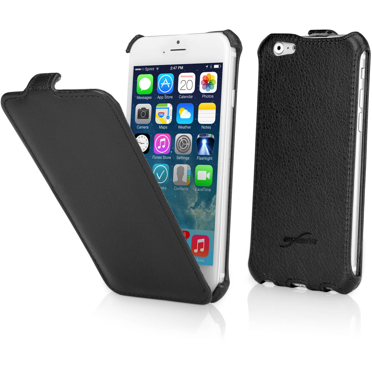 BoxWave Leather Flip Case for Apple iPhone 6/6s