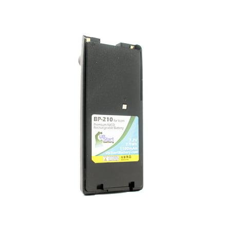 BP-210N Battery for Icom IC-V8, IC-V82, IC-A6, IC-A24, IC-T3H, IC-A6E, IC-F3GS, IC-F21 Two-Way Radio (1100mAh, 7.2V, NI-CD)