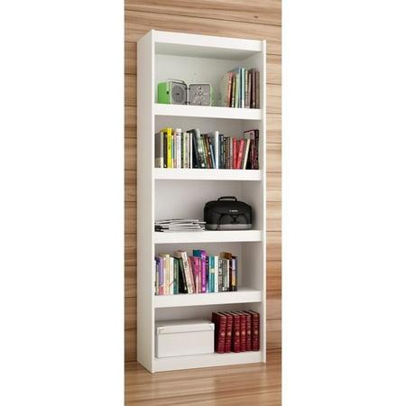 Manhattan Comfort Parana 3.0 Series 5 Shelf Bookcase in White 11500 Series Bookcase Hutch