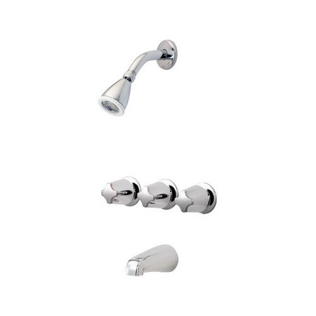 Pfister Three Thermostatic Tub And Shower Faucet Trim With Lever Handle Wal