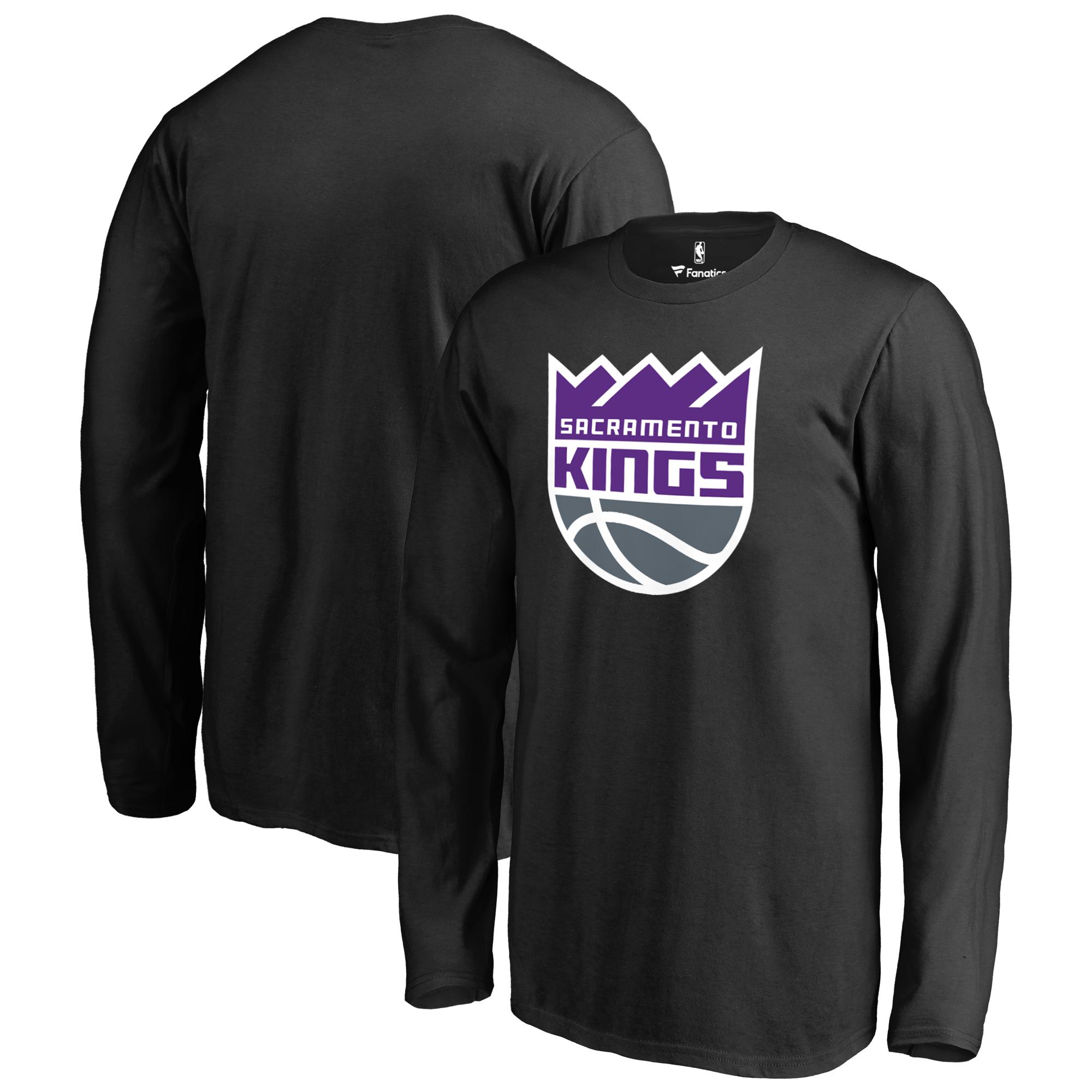 Sacramento Kings Fanatics Branded Youth Primary Logo Long Sleeve T-Shirt - Black