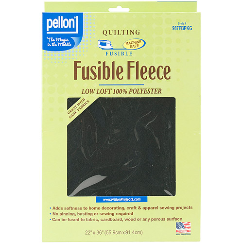 "Fusible Fleece, 22"" x 36"", Black"