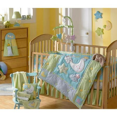 triboro iridescent moon 4 piece crib set. Black Bedroom Furniture Sets. Home Design Ideas