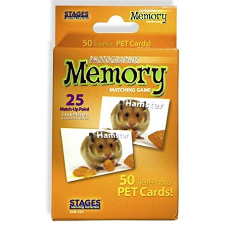 Stages Learning Materials Picture Memory Pets Card Game Real Photo Concentration Game for Home, Family, Preschool, Kindergarten & Elementary Education - Kindergarten Halloween Computer Games