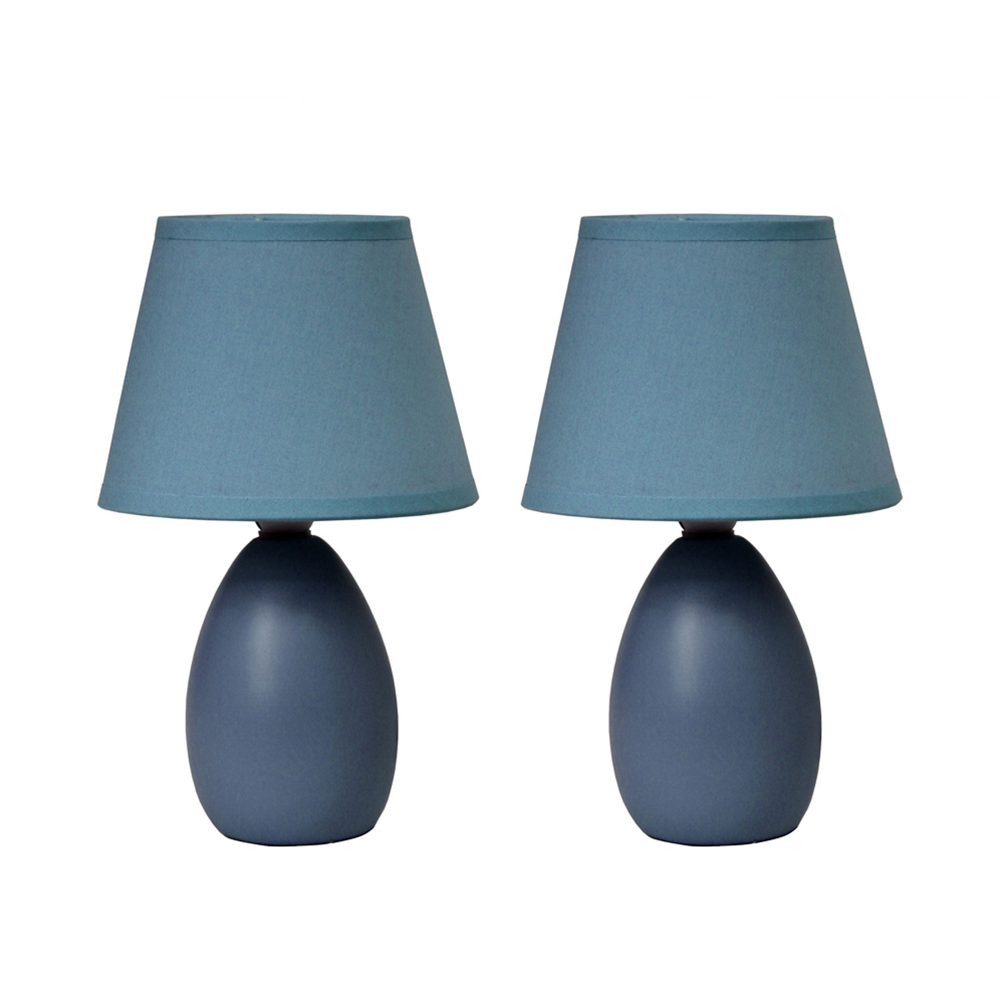 Spa blue ceramic table lamp with white linen shade walmart mozeypictures Gallery
