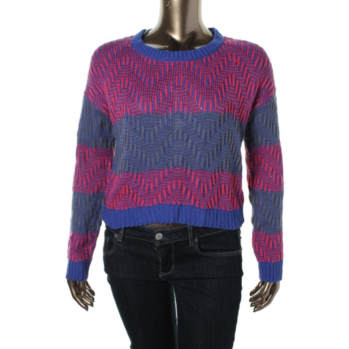 Rewind Womens Juniors Striped Chevron Pullover Sweater - Walmart.com