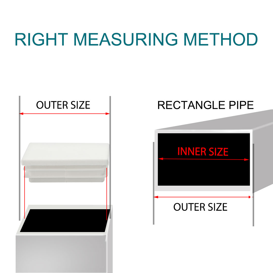 12pcs 40 x 60mm Plastic Rectangle Ribbed Tube Inserts End Cover Cap Table Feet - image 3 de 7