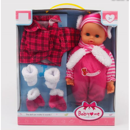 Fashion Dolls Beautiful 14 inch doll your little girl will love. With jacket, gloves, boots, scarf and cap well wrapped and very beautiful. It brings 12 different sounds.