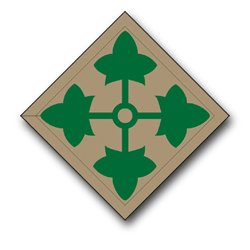 US Army 4th Infantry Division Patch Decal Sticker 3.8