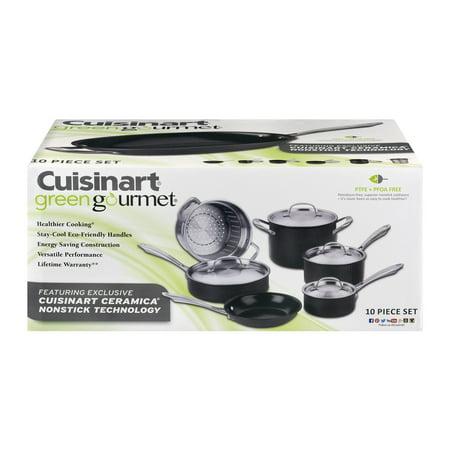 Cuisinart Greengourmet Hard Anodized Eco Friendly Non-Stick 10 Pc. Set