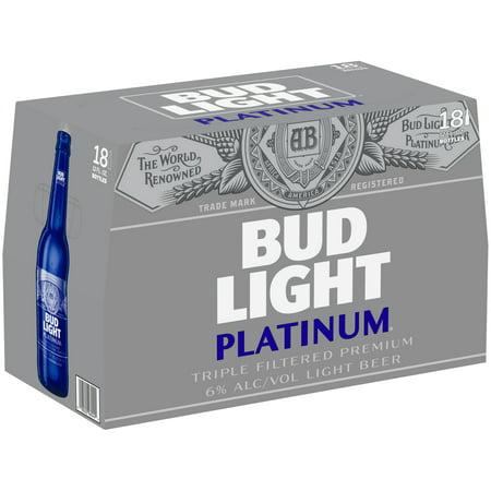 Bud Light Platinum Beer 18 Pack 12 Fl Oz Bottles