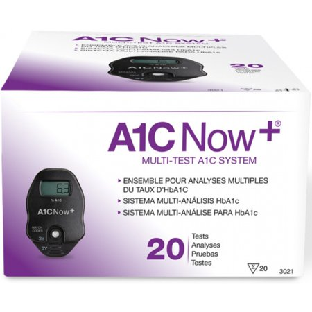 A1C Now+ Rapid Diagnostic Test Kit Diabetes Management Box of 20