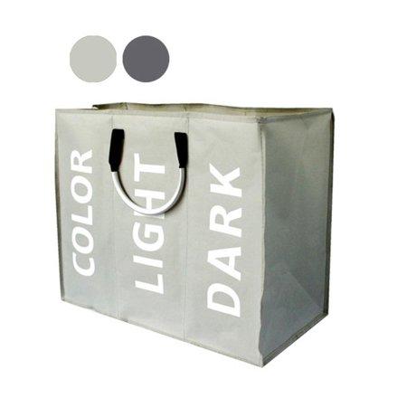 3 Grids Laundry Washing Bag Basket Storage Bin Dirty Clothes Sorter