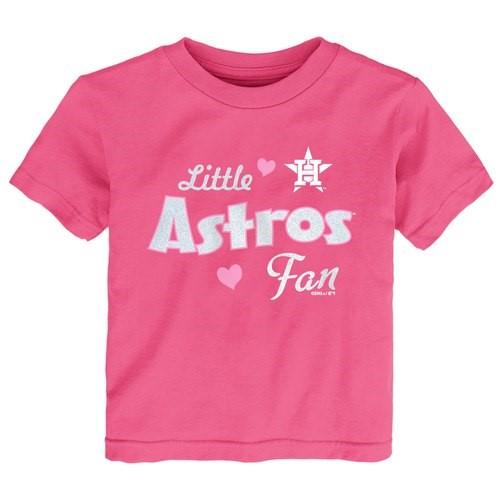 Houston Astros Girls Toddler Fan T-Shirt - Pink