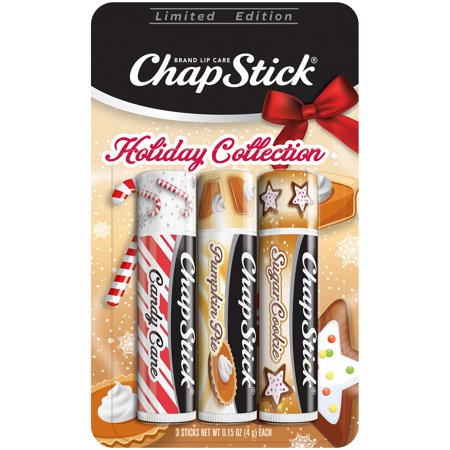 Halloween Pumpkin Shaped Cookies (ChapStick Holiday Limited Edition (Candy Cane, Pumpkin Pie & Sugar Cookie Flavors, 1 Blister Pack of 3 Sticks) Seasonal Flavored Lip Balm Tube, 0.15 Ounce)