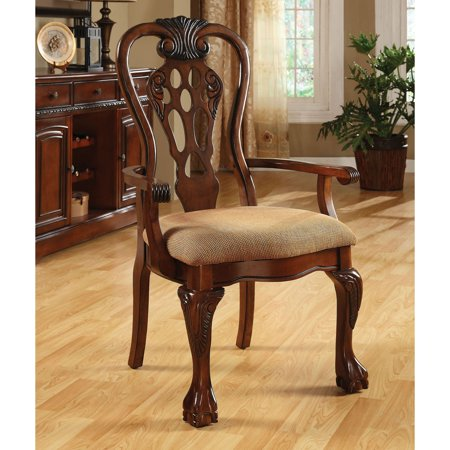 Furniture of America Marcelo Formal Dining Arm Chair - Set of