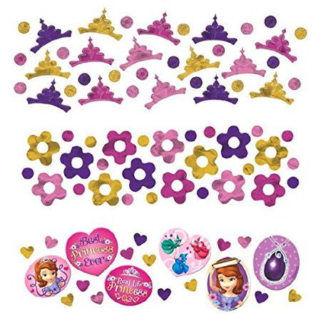 Disney Sofia The First Princess Birthday Party Confetti Decoration (1 Piece), Multi Color, 1.2 oz. (Sofia The First Decorations)