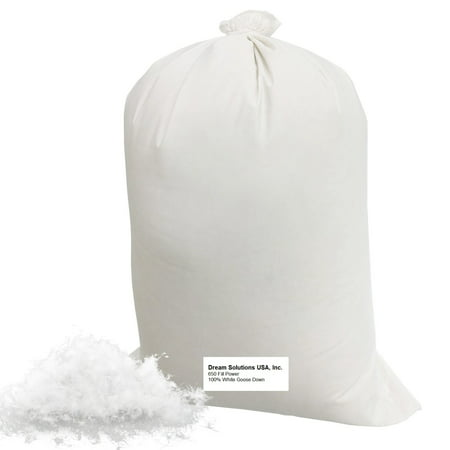 Bulk Goose Down Filling 650 Fill Power (2 lbs) – 100% Natural White, No Feathers – Fill Comforters, Pillows, Jackets and More – Ultra-Plush Hungarian Softness - Dream Solutions USA Brand