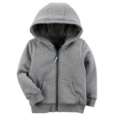 Carter Sweatshirt - Carters F17 grey lined hoodie Heather